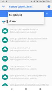 App bat not optimized 1