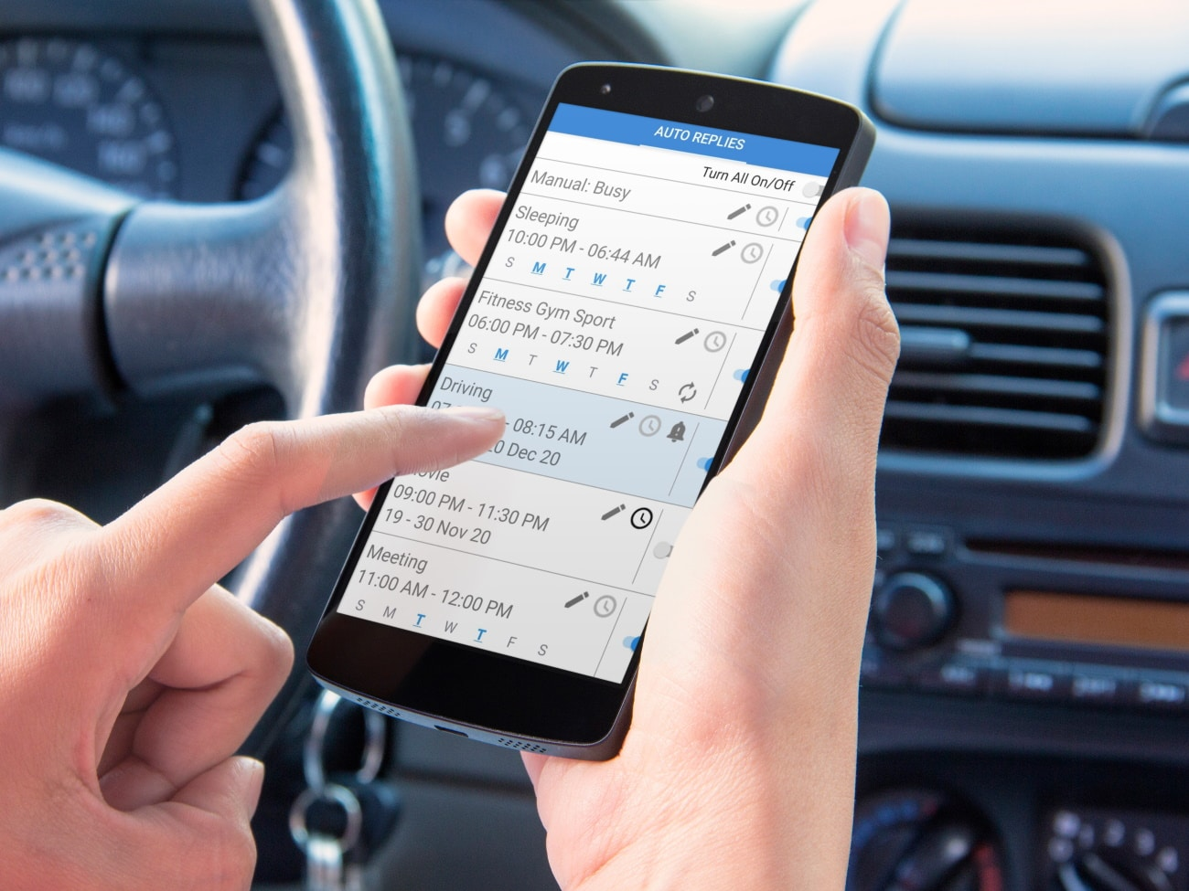 Auto Reply while Driving App N1- Drive Safely!