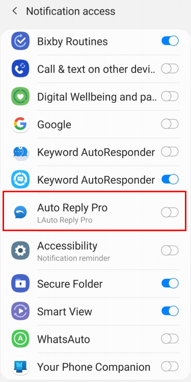 2. Choose Auto Reply App
