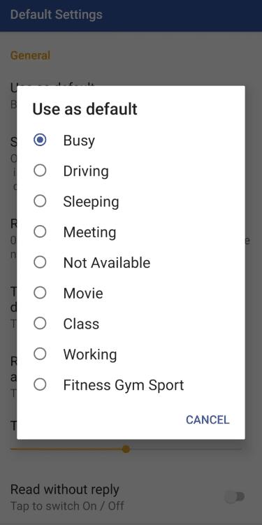 2. Choose Auto Reply
