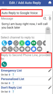 google voice automatic text reply