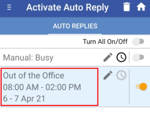best out of office message