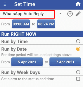 Automatic Reply for WhatsApp
